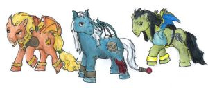 Cold Clan Gargs-My Little Pony by Nebulan