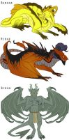 Sketch Project: Dragons I by Panoptos