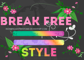 +Break Free Style.\\ RESOURCE PHOTOSHOP by iNothingMattersToMe
