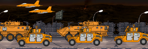 Convoy past Horrors of War by Screamingmaddog5521
