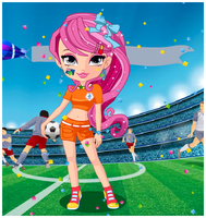 Football Cheerleaders Dress up Games by willbeyou