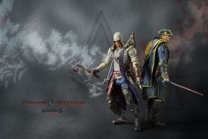 Connor and Haytham action figures by shatinn