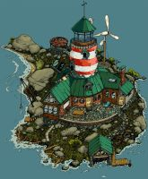 Lighthouse colored by strangedigital