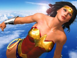 Leaving Themyscira by FredAckerman