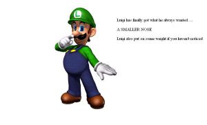 Over weight small nosed luigi by jonjon7707