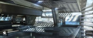 Avengers Tower Interior by atomhawk