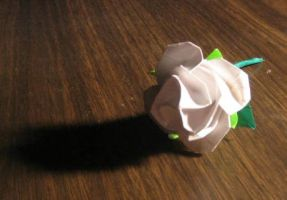 White Origami Rose by IG-86-RF9