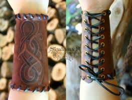 Viking Bracer by SkjaldmaerPyrography