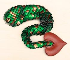 Green Dragon Tail with Brown Flecks by DracoLoricatus