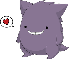 Cute gengar by Digillama