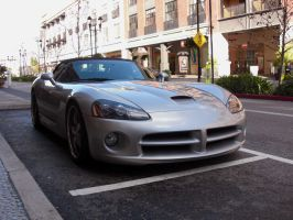 silver Dodge Viper convertible by Partywave