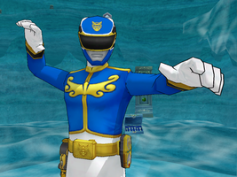 MMD NC, Seaick Power of Surging Waves - Gosei Blue by Zeltrax987