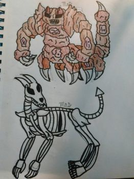 Monster type: Hellhounds and Crushers by AlongComesMaryann