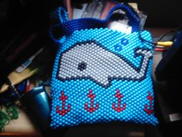 Whale bag (front) by DINOCATCREATIONS
