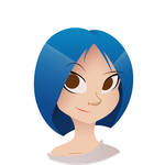 That Blue Haired Girl by Rootay