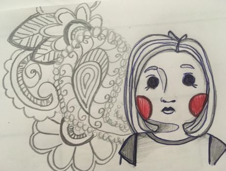 By the Telephone Drawing #2 by joma99