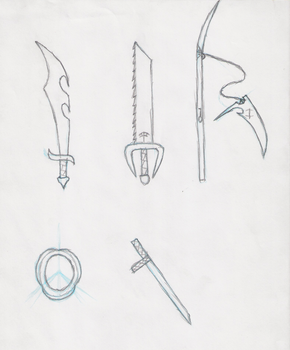 Character Weapons by KerfuffleMach2