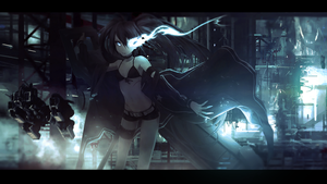 Black Rock Shooter Wallpaper (Color Grading Edit) by rausan
