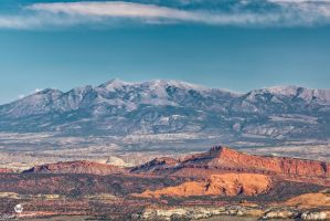Red Rock and Mountains by mjohanson