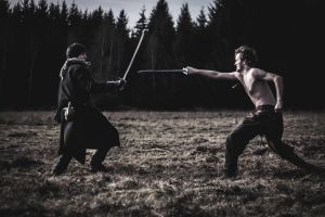 Bogatyr in the fight - Siberian Story LARP by Krushak-Dagra