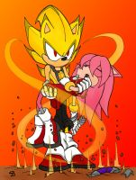 Sonic and Amy - Retaliation: Colored by SonicWind-01