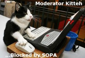 SOPA: Moderator Kitteh by Mewthree56