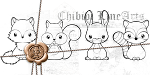 Forest Animal Bundle 02 P2U Lines / Adopt Bases by Chibivi-Linearts