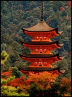 the Miyajima Pagoda by jyoujo