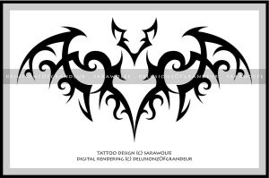 Digital Revamp: Bat Tattoo by SaraChristensen