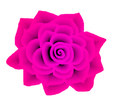 Deep Pink Rose STOCK by venicet