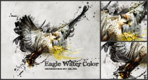 Eagle watercolor by abgraph