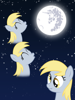 Three Derp Moon by Moonbrony