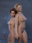 Two Girls and a Rose 2 of 3 by UnHolyOska