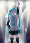 Miku's Concert by rainbownote