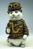Steampunker kitty Painted by Switchum
