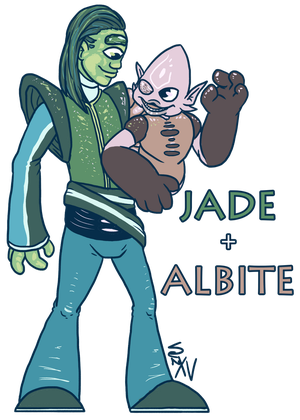 Jade and Albite by thebigbadbasenji