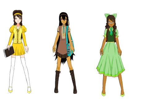 Tiana  and Pocahontas and Belle by swaggoutloud123