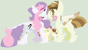 Featherbelle Family by Cha1nsaw-Kitty
