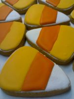 Candy Corn Cookies by eckabeck