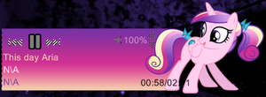 Princess Cadence Player for Rainmeter by LlodsliatLNS
