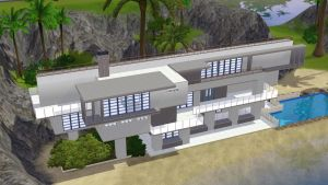 Sims 3 Modern beach home by RamboRocky