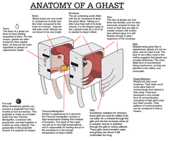 Ghast Anatomy concept, Minecraft by Pickleplayer