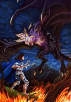 The kninght and the Dragon by larkabella