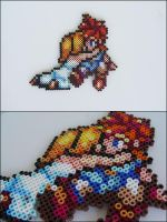 Chrono Trigger and Marle (hugging) bead sprite by 8bitcraft
