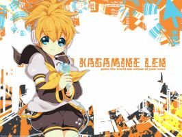 Download: 8 Len Wallpapers by Kaze-Hime