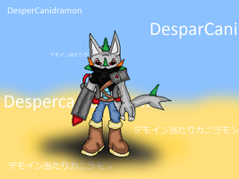 Custom Digimon - DesperCanidramon by JonicOokami7