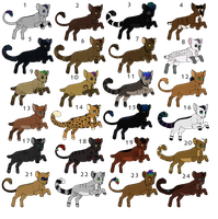 24 Feline Adopts~ CLOSED/MOVED by SapphireSquire