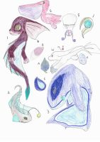 oceanic ADOPTABLES!! and some eggs too by IcyWaterWolf