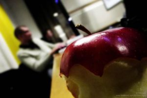 Apple in a Classroom by Sirhaian