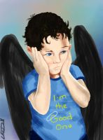 Supernatural - Toddler Cas by hydraa